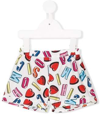 Moschino Kids letter motif shorts