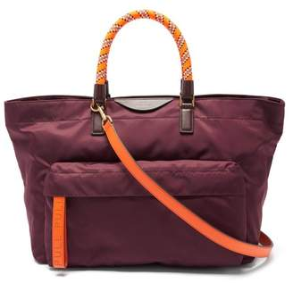Anya Hindmarch Neon Bungee Handle Tote Bag - Womens - Burgundy Multi