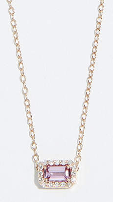 Alison Lou 14k Sapphire and Diamond Tiny Necklace