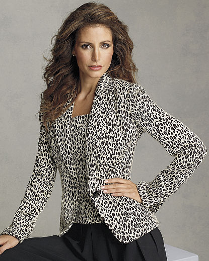 Fitted Leopard-Print Jacket