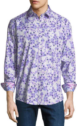 1 Like No Other Floral Pattern Sport Shirt