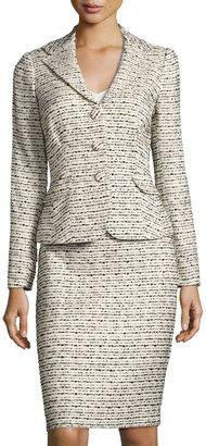 Kay Unger New York Tweed Jacket & Skirt Suit Set, Beige $229 thestylecure.com
