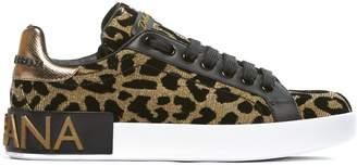 Dolce & Gabbana Leopard Print Sneakers