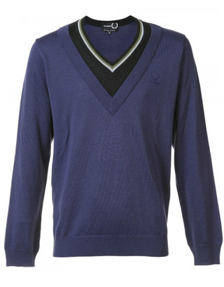 Fred Perry x Raf Simons contrast neck jumper $275 thestylecure.com