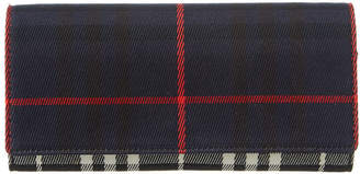 Burberry Tartan Canvas & Leather Wallet On Chain