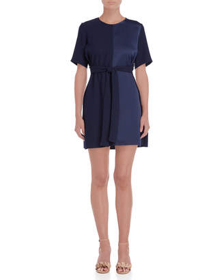 Made In Italy Tie Waist Shift Dress