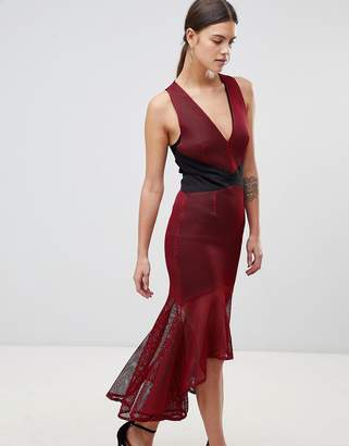 Forever Unique Paneled V Neck Dress