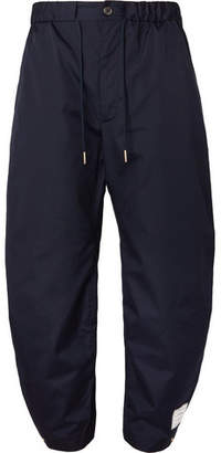 Thom Browne Drawstring Canvas Trousers - Navy