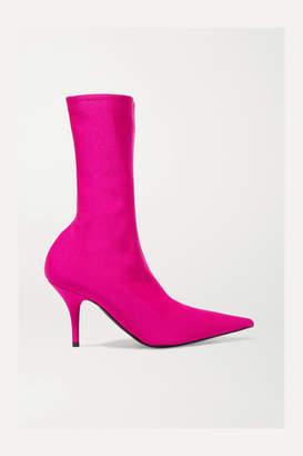 Balenciaga Knife Spandex Sock Boots - Pink