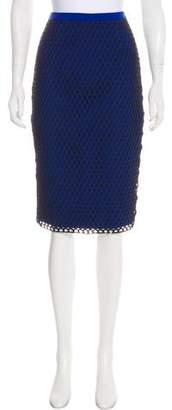 Elizabeth and James Open Knit Pencil Skirt