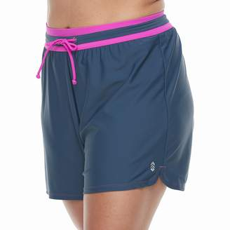Free Country Plus Size Drawstring Swim Shorts