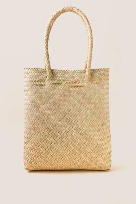 francesca's Small Kiara Palm Tote - Natural