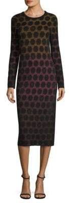 M Missoni Dot Knit Midi Dress