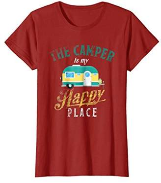 Camper The Is My Happy Place T Shirt Holiday Cool Gift Tee
