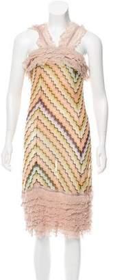 Missoni Ruffle-Trimmed Knit Dress