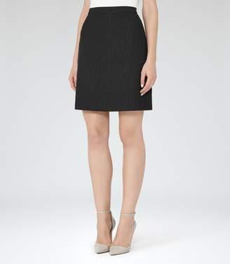 Reiss Mendes Textured Skirt