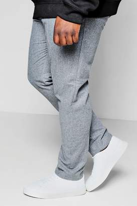 boohoo Big And Tall Draw String Wool Mix Tapered Trouser