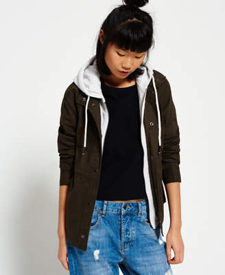 Superdry Rookie Double Crop Parka Jacket