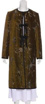 Giada Forte Embroidered Long Coat