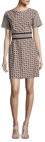 Max MaraWeekend Max Mara Reflex Belted Geometric Dress