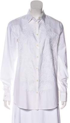 Etro Embroidered Woven Button-Up