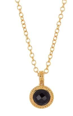 Anna Beck Semiprecious Stone Round Drop Pendant Necklace