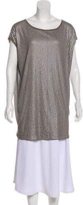 Vince Sequin Embellished Tunic Top