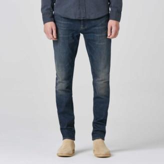 DSTLD Mens Skinny Jeans in Three Year Dark Blue