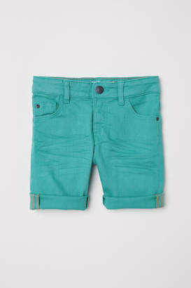 H&M Knee-length Twill Shorts - Turquoise
