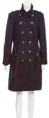 Burberry Double-Breasted Wool Coat