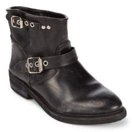 Golden Goose Leather Moto Boots