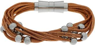 Steel By Design Stainless Steel Multi-Strand Woven Bracelets with Bead Details