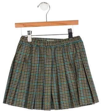 Papo d'Anjo Girls' Plaid Wool Skirt