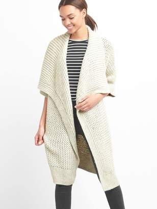 Gap Slouchy textured open-front cardigan