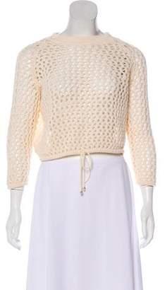 St. John Sport Wool-Blend Cropped Sweater