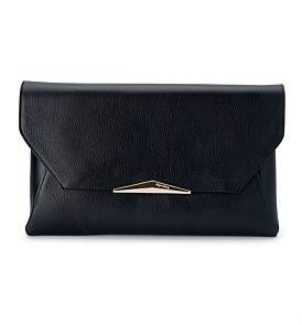 Olga Berg Leather Envelope Clutch Shoulder Bag