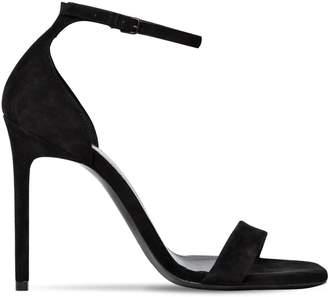 Saint Laurent 105mm Amber Suede Sandals