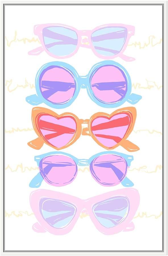 Jonathan Bass Studio Beach Glasses (Framed Canvas)