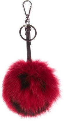 FendiFendi Fox Fur Smiley® Bag Bug Charm