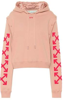Off-White Cropped cotton hoodie