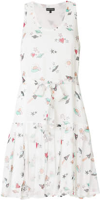 Emporio Armani heart and planet print dress