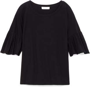 Vince Camuto Ruffle-sleeve T-shirt