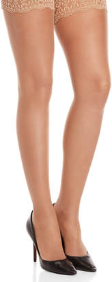 Wolford Individual 10 Lace Trim Thigh-High Tights