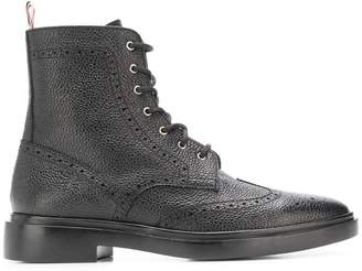 Thom Browne Classic Wingtip Rubber Sole Boot