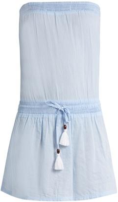 HEIDI KLEIN Corsica strapless cotton-chambray dress $145 thestylecure.com