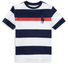 Ralph Lauren Little Boy's& Boy's Striped Jersey Cotton Tee