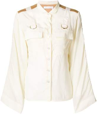 Chloé military buckled shirt