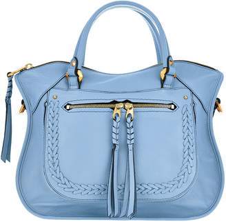Oryany Pebble Leather Satchel with Braiding Detail - Sarah
