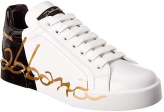 Dolce & Gabbana Portofino Leather Sneaker