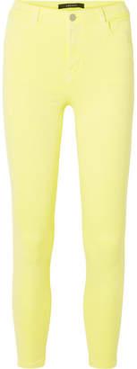 J Brand Alana High-rise Skinny Jeans - Bright yellow